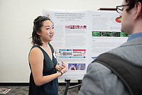 """Electromechanical Reshaping of Cartilage and the Molecular and Chemical Effects of Water Electrolysis on Tissue and Cell Viability"" by Lynn He<br /> (Mentor: Michael Hill, Chemistry)<br /> Occidental College's Undergraduate Research Center hosts their annual Summer Research Conference, Aug. 1, 2018. Student researchers presented their work as either oral or poster presentations at the final conference. The program lasts 10 weeks and involves independent research in all departments.<br /> (Photo by Marc Campos, Occidental College Photographer)"
