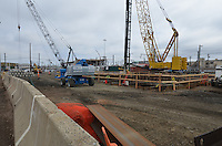 New Haven Rail Yard, Independent Wheel True Facility. CT-DOT Project # 0300-0139, New Haven CT..Progress Photograph of Construction Progress Photo Shoot 9 on 15 March 2012. One of 52 Images Captured this Submission.
