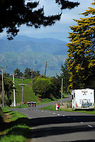 2017 NZ Schools Road Cycling championship day one team time trials at Koputaroa Road near Levin, New Zealand on Saturday, 30 September 2017. Photo: Dave Lintott / lintottphoto.co.nz