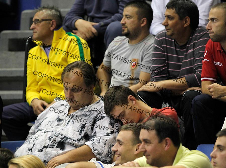 Kosarka ABA League season 2013-2014<br /> Crvena Zvezda v Radnicki (Kragujevac)<br /> Navijaci spavaju tokom utakmice<br /> Beograd, 12.10.2013.<br /> foto: Srdjan Stevanovic/Starsportphoto &copy;