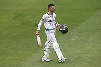 Keshav Maharaj leaves the field having been dismissed for 85 during Essex CCC vs Yorkshire CCC, Specsavers County Championship Division 1 Cricket at The Cloudfm County Ground on 9th July 2019