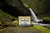 Henry Weinhard's Beer at the Oneonta Gorge Falls in Mount Hood, Oregon.