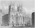 New National Scotch Church, Sidmouth St Grays Inn Road, 'Metropolitan Improvements, or London in the Nineteenth Century', England, UK 1828 , drawn by Thomas H Shepherd