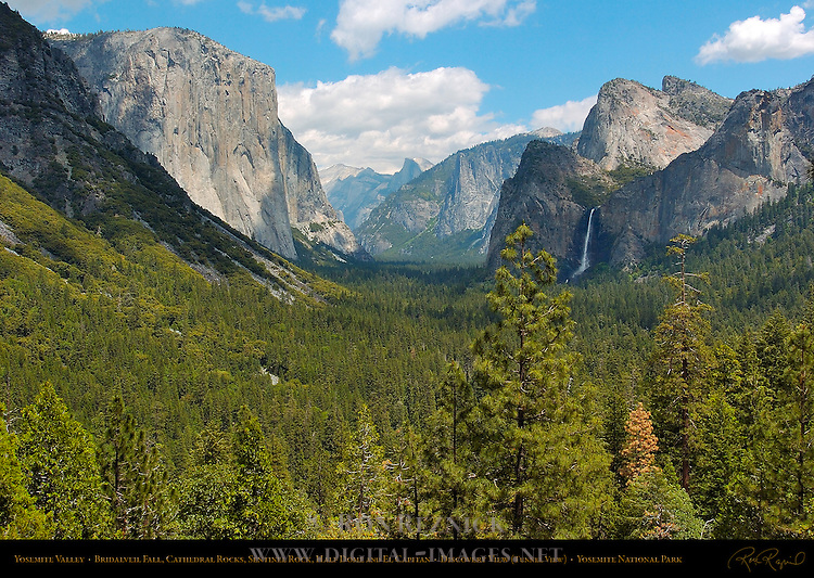 Yosemite Valley in Spring, El Capitan, Clouds Rest, Half Dome, Sentinel Rock, Sentinel Dome, Bridalveil Fall and Cathedral Rocks, Discovery View, Tunnel View, Yosemite National Park