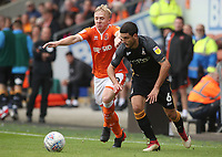 Blackpool's Mark Cullen and Bradford City's Anthony O'Connor<br /> <br /> Photographer Rachel Holborn/CameraSport<br /> <br /> The EFL Sky Bet League One - Blackpool v Bradford City - Saturday September 8th 2018 - Bloomfield Road - Blackpool<br /> <br /> World Copyright &copy; 2018 CameraSport. All rights reserved. 43 Linden Ave. Countesthorpe. Leicester. England. LE8 5PG - Tel: +44 (0) 116 277 4147 - admin@camerasport.com - www.camerasport.com