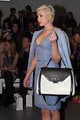 14 February 2014, London, England, UK. Actress Helen George attends the Bora Aksu catwalk show during London Fashion Week AW14 at Somerset House, London.