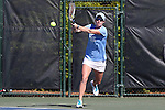 24 April 2016: UNC's Whitney Kay. The University of North Carolina Tar Heels played the University of Miami Hurricanes at the Cary Tennis Center in Cary, North Carolina in the Atlantic Coast Conference Women's Tennis Tournament Championship. North Carolina won the match 4-2.