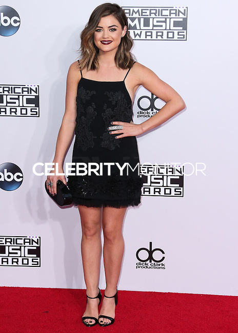 LOS ANGELES, CA, USA - NOVEMBER 23: Lucy Hale arrives at the 2014 American Music Awards held at Nokia Theatre L.A. Live on November 23, 2014 in Los Angeles, California, United States. (Photo by Xavier Collin/Celebrity Monitor)