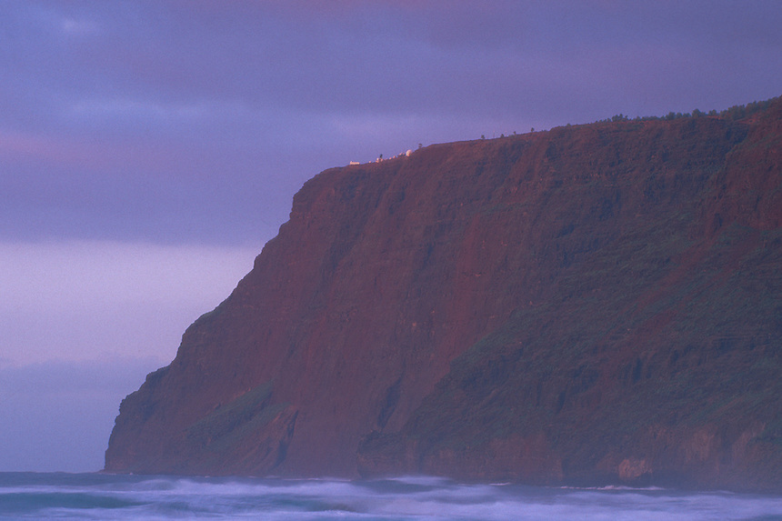 Na Pali Cliffs from Polihale Beach, Kauai, Hawaii, US