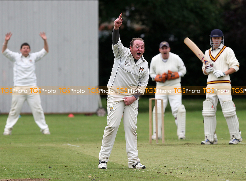 P Crane of Hornchurch Ath appeals for the wicket C Crosseley - Hornchurch Athletic CC vs Leyton County CC - Lords International Cricket League at Hylands Park - 12/07/08 - MANDATORY CREDIT: Gavin Ellis/TGSPHOTO - Self billing applies where appropriate - Tel: 0845 094 6026.