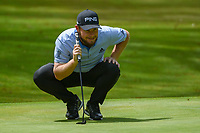 Tyrrell Hatton (ENG) lines up his putt on 11 during round 2 of the World Golf Championships, Mexico, Club De Golf Chapultepec, Mexico City, Mexico. 2/22/2019.<br /> Picture: Golffile | Ken Murray<br /> <br /> <br /> All photo usage must carry mandatory copyright credit (&copy; Golffile | Ken Murray)