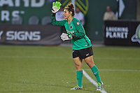 Portland, Oregon - Sunday September 11, 2016: Portland Thorns FC goalkeeper Michelle Betos (18) during a regular season National Women's Soccer League (NWSL) match at Providence Park.