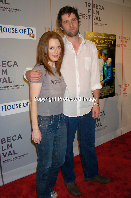 """Julianne Moore and husband Bart Freundlich ..at the """"House of D"""" movie screening at the Tribeca Film Festival on May 7, 2004 in New YOrk City. ..Photo by Robin Platzer, Twin Images"""
