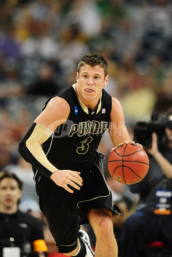 Mar 26, 2010; Houston, TX, USA; Purdue Boilermakers guard (3) Chris Kramer against the Duke Blue Devils during the during the semifinals of the south regional in the 2010 NCAA mens basketball tournament at Reliant Stadium. Duke defeated Purdue 70-57. Mandatory Credit: Mark J. Rebilas-