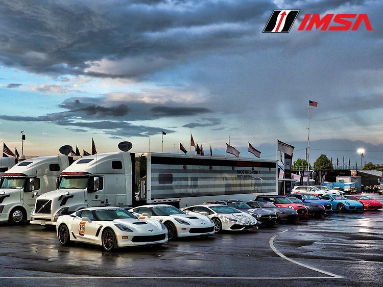 IMSA WeatherTech SportsCar Championship<br /> Sahlen's Six Hours of the Glen<br /> Watkins Glen International, Watkins Glen, NY USA<br /> Saturday 1 July 2017<br /> Pace car fleet, paddock<br /> World Copyright: Michael L. Levitt/LAT Images