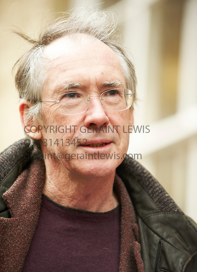 Ian McEwan Novelist and ,writer , in Christchurch College Oxford at The Oxford Literary Festival 2010.CREDIT Geraint Lewis
