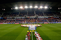 Harrison, NJ - Tuesday April 10, 2018: Pre-game ceremony prior to leg two of a  CONCACAF Champions League semi-final match between the New York Red Bulls and C. D. Guadalajara at Red Bull Arena. C. D. Guadalajara defeated the New York Red Bulls 0-0 (1-0 on aggregate).