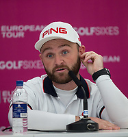 Andy Sullivan (England) during a media interview ahead of the GOLFSIXES ProAm  at Centurion Club, St Albans, England on 5 May 2017. Photo by Andy Rowland.