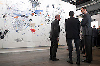 King Felipe VI of Spain visits ARCO Contemporary Art Fair inauguration in Madrid, Spain. February 26, 2015. (ALTERPHOTOS/Victor Blanco) /NORTEphoto.com
