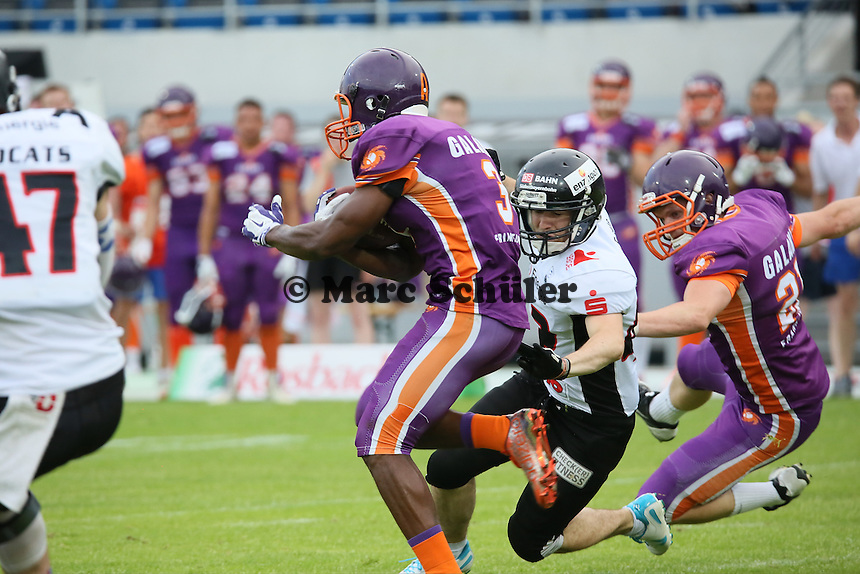 John Clements (Galaxy) beim Return - Frankfurt Galaxy vs. Kirchdorf Wildcats, Frankfurter Volksbank Stadion