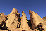 Israel, Eilat Mountains, Solomon's Pillars in Timna Valley