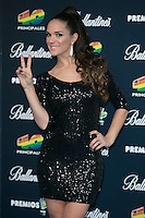 La Dama attend the 40 Principales Awards at Barclaycard Center in Madrid, Spain. December 12, 2014. (ALTERPHOTOS/Carlos Dafonte) /NortePhoto