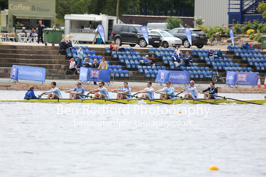 Race: 140  Event: Non-Champ A-C 8+  Final<br /> <br /> British Rowing Masters Championships 2018<br /> Saturday<br /> <br /> To purchase this photo, or to see pricing information for Prints and Downloads, click the blue 'Add to Cart' button at the top-right of the page.