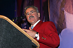 Hank Steinbrecher, former Secretary General of the United States Soccer Federation, gives his induction speech on Monday, August 29, 2005, during the 2005 National Soccer Hall of Fame Induction Ceremony in Oneonta, New York.