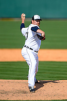 Detroit Tigers pitcher Phil Coke #40 during a Spring Training game against the Atlanta Braves at Joker Marchant Stadium on February 27, 2013 in Lakeland, Florida.  Atlanta defeated Detroit 5-3.  (Mike Janes/Four Seam Images)