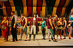 Florida State University's Flying High Circus is an extra-curricular activity for students. Every summer the circus moves to Pine Mountain, Georgia to Callaway Gardens, where the FSU students perform for crowds under a Big Top six times a week. ..The students stand for applause at the end of a Saturday night show, July 28, 2012.