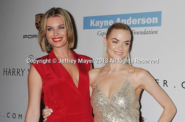 CULVER CITY, CA- NOVEMBER 09: Actresses/models Rebecca Romijn (L) and Jaime King arrive at the 2nd Annual Baby2Baby Gala at The Book Bindery on November 9, 2013 in Culver City, California.