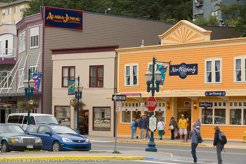 Summer streets in downtown Juneau, Alaska.