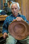 Nathan Jackson-Tlingit master carver. Lead carver at Saxman carving shed. Saxman Carving Shed, Ketchikan, Alaska.