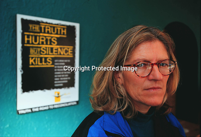 DIPOTRC00071.Polotics. TRC. Shirley Gunn, a former ANC militant who was arrested and put in prison. She was released in 1990. She has testified in the Truth Comission..© Per-Anders Pettersson@iAfrika Photos