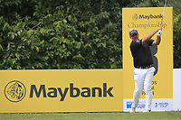Darren Clarke (NIR) in action on the 8th tee during Round 2 of the Maybank Championship at the Saujana Golf and Country Club in Kuala Lumpur on Friday 2nd February 2018.<br /> Picture:  Thos Caffrey / www.golffile.ie<br /> <br /> All photo usage must carry mandatory copyright credit (&copy; Golffile | Thos Caffrey)