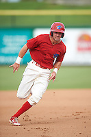 Clearwater Threshers third baseman Derek Campbell (26) running the bases during a game against the Lakeland Flying Tigers on August 5, 2016 at Bright House Field in Clearwater, Florida.  Clearwater defeated Lakeland 3-2.  (Mike Janes/Four Seam Images)