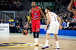 Real Madrid Facundo Campazzo and CSKA Moscow Cory Higgins during Turkish Airlines Euroleague match between Real Madrid and CSKA Moscow at Wizink Center in Madrid, Spain. November 29, 2018. (ALTERPHOTOS/Borja B.Hojas)