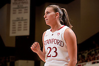 STANFORD, CA - November 14, 2010: Jeanette Pohlen during a basketball game against Rutgers at Stanford University in Stanford, California. Stanford won 63-50.