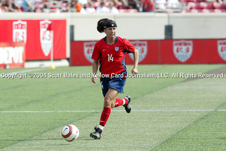 6 June 2004: Joy Fawcett in the second half. The United States tied Japan 1-1 at Papa John's Cardinal Stadium in Louisville, KY in an international friendly soccer game..
