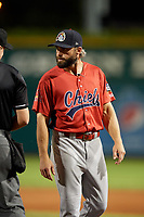 Peoria Chiefs manager Chris Swauger (8) during a game against the Bowling Green Hot Rods on September 15, 2018 at Bowling Green Ballpark in Bowling Green, Kentucky.  Bowling Green defeated Peoria 6-1.  (Mike Janes/Four Seam Images)