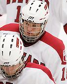 Sam Bozoian (Harvard - 18) - The Boston College Eagles defeated the Harvard University Crimson 3-2 on Wednesday, December 9, 2009, at Bright Hockey Center in Cambridge, Massachusetts.