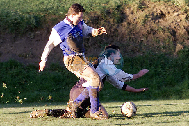 Action between Boyne Rovers and Dalkey in Parkview on Sunday..Picture: Paul Mohan/Newsfile
