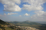 Israel, Upper Galilee, a view of Rame' from road 864
