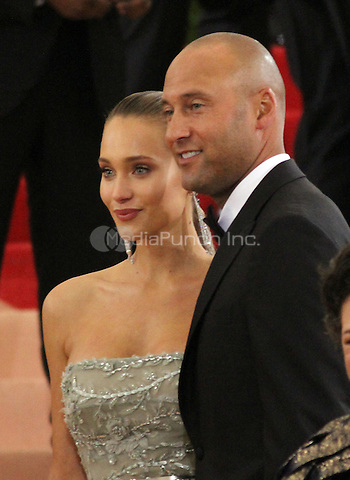 05 02 2016: Hannah Davis, Derek Jeter at Manus X Machina: Fashion In An Age of Technology at Metropolitan Museum of Art in New York. Credit:RWMediaPunch