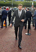 """Pictured: Josep """"Pep"""" Clotet arrives Wednesday 20 May 2015<br /> Re: Swansea City FC Awards Dinner at the Liberty Stadium, south Wales, UK"""