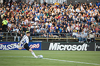 San Jose Earthquakes Joe Canon kicks the ball downfield. .The San Jose Earthquakes tied FC Dallas 0-0, at Buck Shaw Stadium, in Santa Clara, California, Saturday, May 3, 2008. .
