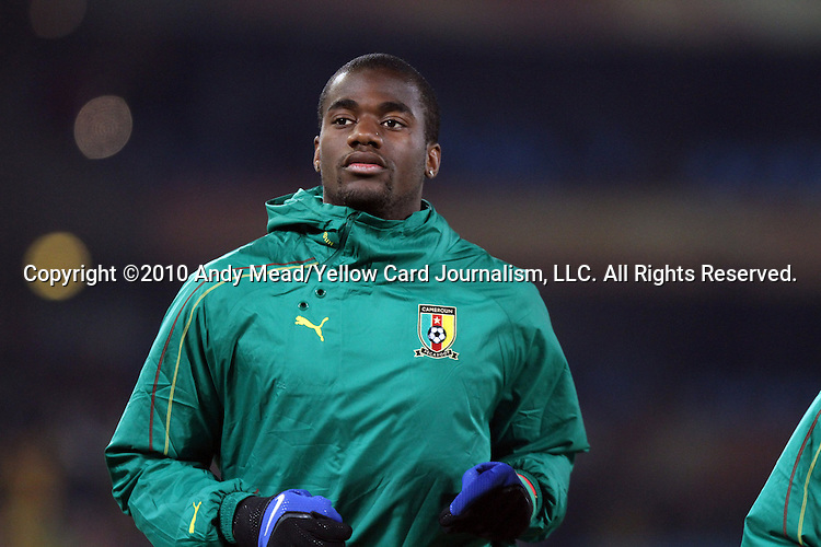 19 JUN 2010: Sebastien Bassong (CMR). The Cameroon National Team lost 1-2 to the Denmark National Team at Loftus Versfeld Stadium in Tshwane/Pretoria, South Africa in a 2010 FIFA World Cup Group E match.