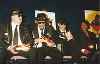 Blues Brothers6023.JPG<br /> <br /> 1997 <br /> John Goodman, James Belushi,<br /> Dan Aykroyd, James Brown 1997<br /> Photo to By John Barrett-PHOTOlink.net/MediaPunch