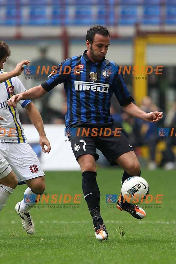 Giampaolo Pazzini Inter.Milano 23/10/2011 Stadio S.Siro.Football Calcio Serie A 2011-12.Inter vs Chievo .Foto Insidefoto Paolo Nucci