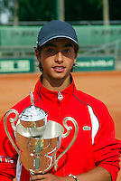 13-8-06,Den Haag, Tennis Nationale Jeugdkampioenschappen, winnaar jongens 16 jaar, Xander Spong